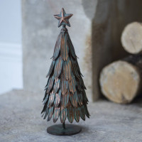 Christmas Tree - Metal - Vintage Finish - Large
