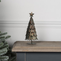 Christmas Tree - Metal -  Vintage Finish - Small