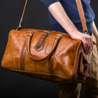 Overnight Bag - Tan or Dark Brown
