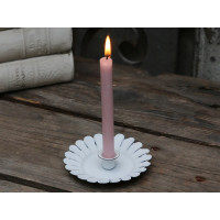 Taper Candle Holder  – Antique White
