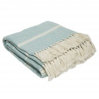 Weaver Green Oxford Stripe Blanket - Teal