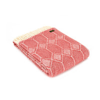 Churchpane Throw - Pure New Wool – Cranberry