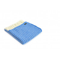 Zig Zag Throw - Pure New Wool – Blue