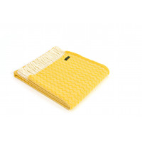 Zig Zag Throw - Pure New Wool – Yellow