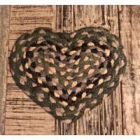 Braided Heart Coaster - Tundra
