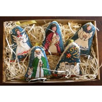 Nativity Set  - 5 Painted Hanging Bells