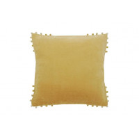 Velvet Cushion with Bobbles - 4 Colours