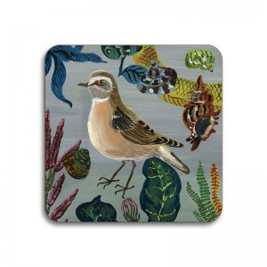Birds in the Dunes Coaster - Wheatears Hen