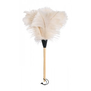 Luxury Feather Duster - Unique white/light Ostrich Feathers - 50cm