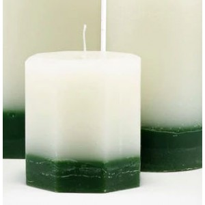 Octagonal Pillar Candle - 100% Recycled Wax - 4 Fragrances