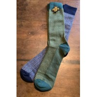 "SIXTON LONDON - Amalfi Sock & ""Worker Bee"" Pin Gift Sat - Mens"