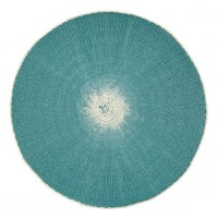 Woven Paper Placemat -  Medici Blue & Stone White