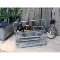 Cutlery/Bottle Holder - Antique Zinc Finish
