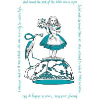 Alice In Wonderland Tea Towel - Louise Kirk