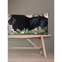 Velvet Cushion 'Big Lion' 40 x 80 cm