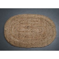 Large Oval Ended Braided Jute Rug - 150cm x 215cm