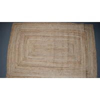 Large Square Ended Jute Braided Rug 120 cm  x 180 cm