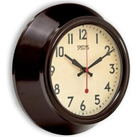 Smiths Sectric Wall Clock - Smiths Dial - 25.5 cm - Brown