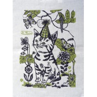 Le Manoir Tea Towel Collection - Party Cat - Nathalie Lété