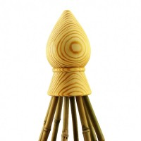 Cane Finial – Oiled Pine – 8 Canes