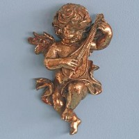 Gold Cherub with Lute