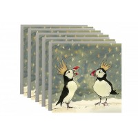 Anna Wright  - Christmas Puffins Christmas Card Pack