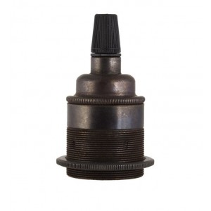 Period Metal Bulb Holder - Screw E27 - Available in 2 finishes