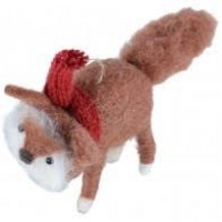 Foxy Fox Christmas Felt Decoration