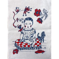 Le Manoir Tea Towel Collection - La Fille - Nathalie Lété