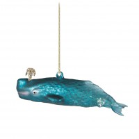 Glitzy Whale Christmas Decoration