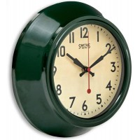 Smiths Sectric Wall Clock - Smiths Dial - 25.5 cm - Green