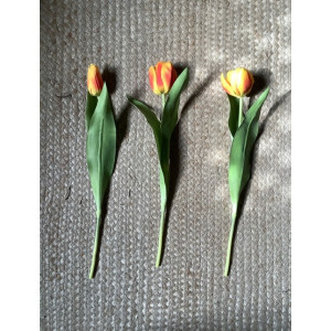 Artificial Tulip - Orange/Yellow - 3 Styles