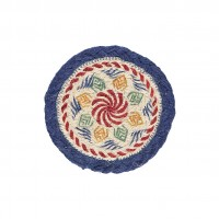 Braided Coasters - Kantha - Set/6