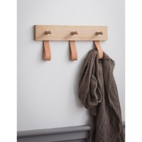 Oak & Leather - Kelston - 3 Peg Rail