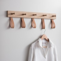 Oak & Leather - Kelston - 5 Peg Rail