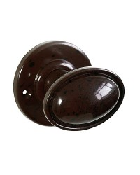 Stepped Oval Real Bakelite Door Knobs - Round Rose