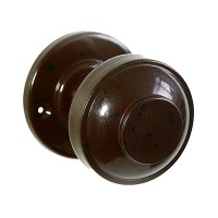Stepped Round Real Bakelite Door Knob - Round Rose - Pair