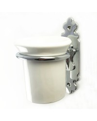 Classic Toothbrush Holder - Chrome Plate with Ceramic Tumbler