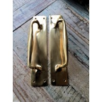 Large Brass Door Pull Handle -  Pair