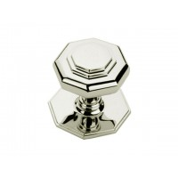 Octagonal Door Knob - Nickel - Mortice
