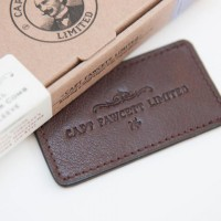 'Captain Fawcett Ltd' - Folding Pocket Moustache Comb Leather Case