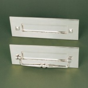 Traditional Letterplate - With Clapper- Polished Nickel