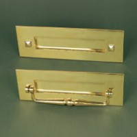 Traditional Letterplate - With Clapper - Polished Brass