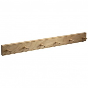 Mug Rack  - Natural Oak - 6 Peg