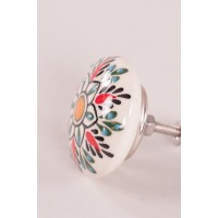 Textured Hand Painted Cupboard Knob - Multi