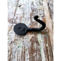 Penny End Single Hook - Hand Forged - 50mm
