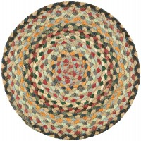 Braided Place Mats - Misty Blue - Set/6