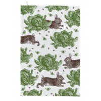 Thornback & Peel Tea Towel - Rabbit & Cabbage