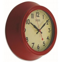 Smiths Sectric Wall Clock - Smiths Dial - 25.5 cm - Red