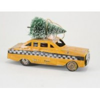 Retro New York Taxi Ornament